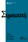 Sign Systems Studies 41 (2-3)